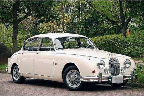 White JDM 1965 Jaguar Mark 2 in pristine condition