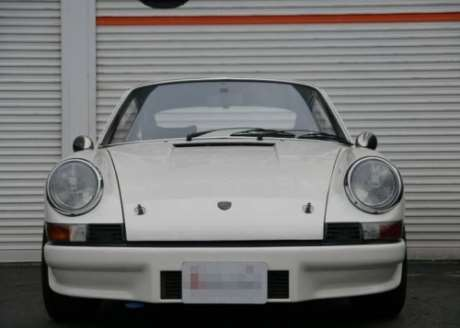 White JDM 1972 Porsche 911 with naturally aspirated, air-cooled 2.4-liter flat-six engine