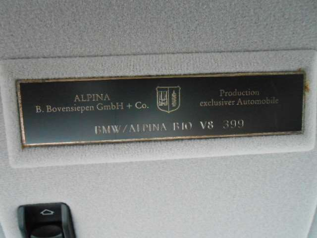 Alpina unique verification plate. Check for buying a good Alpina from Japan