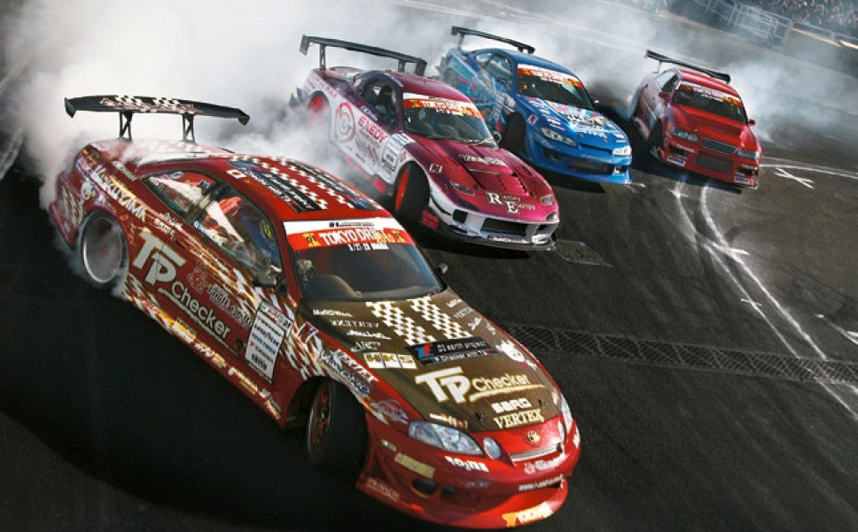 The first FIA Intercontinental Drifting Cup - Drifting in Odaiba Tokyo