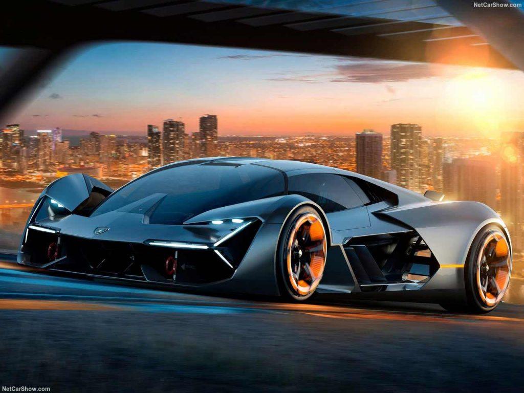 Self-healing electric Lamborghini supercar: Lamborghini Terzo Millennio concept car