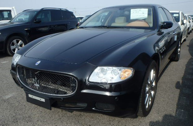 Aston Martin is huge in Japan: A 2006 Maserati Quattroporte Executive GT recently sourced by Japan Car Direct
