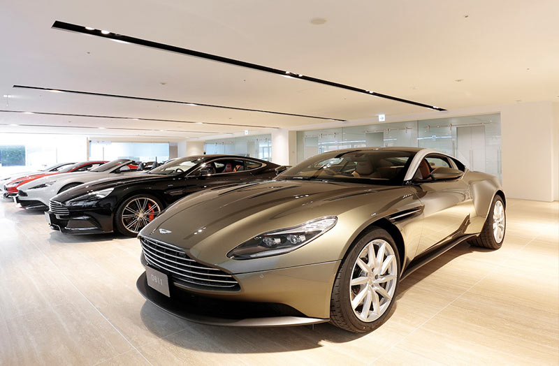 Aston Martin is Huge in Japan: Tokyo Aston Martin showroom