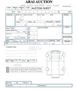 Arai-auction-sheet-report