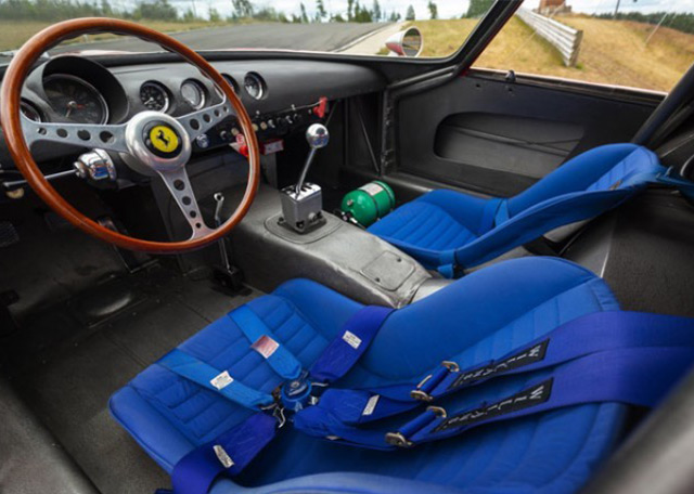 The most expensive car ever? 1962 Ferrari 250 GTO: Interior of the 1962 Ferrari 250 GTO to be auctioned by RM Sotheby