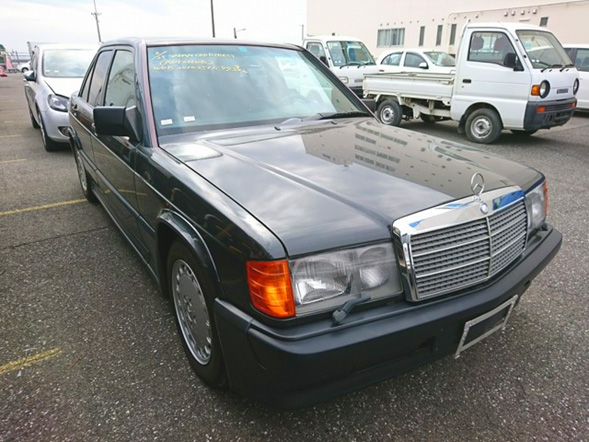 Mercedes Benz 190E import export used car auction japan USA 25 year rule