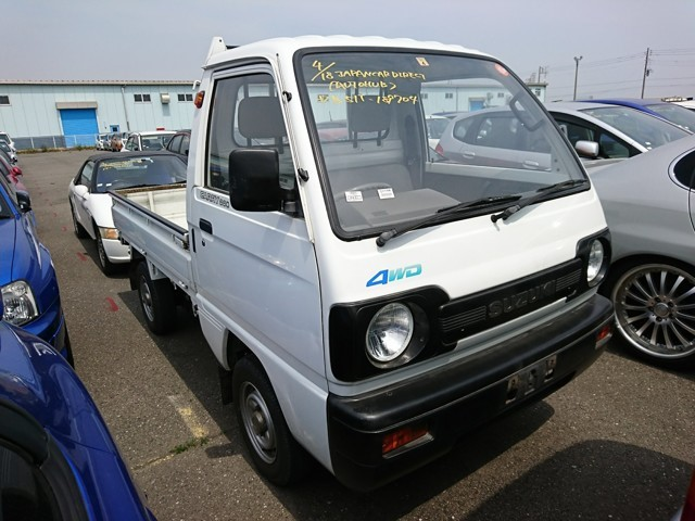 Suzuki Carry mini kei truck 4wd hi lo air conditioning 5 speed JDM import export pros