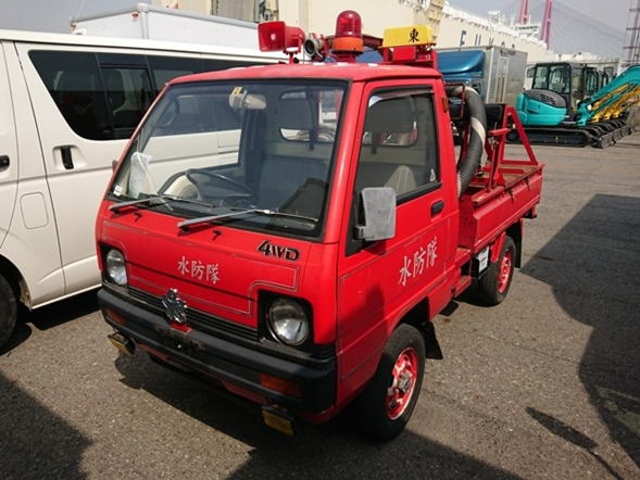 Mini truck firetruck low mileage excellent condition buy from Japan import export