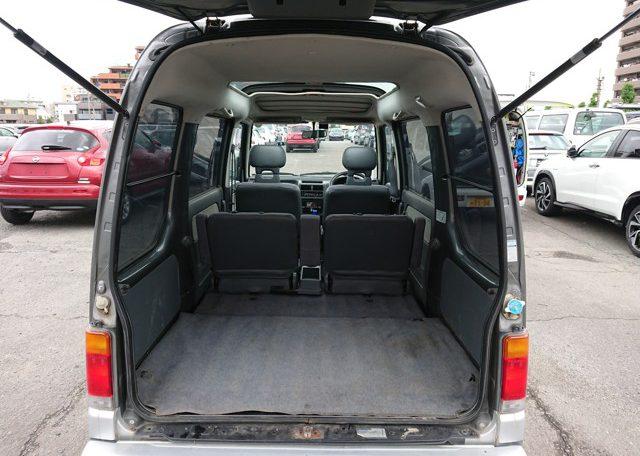 Subaru Sambar Diaz rear door easy access lots of luggage storage space