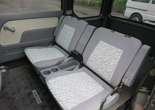 Subaru Sambar Diaz rear seats clean cup holders fold down