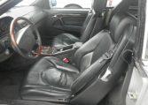 Mercedes Benz SL500,gray leather seats,supportive bucket seats,burled walnut, 1996 SL500 interior