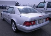 1996 Benz trunk,silver body,rear left view,Japan Car Direct,used Mercedes Benz SL500