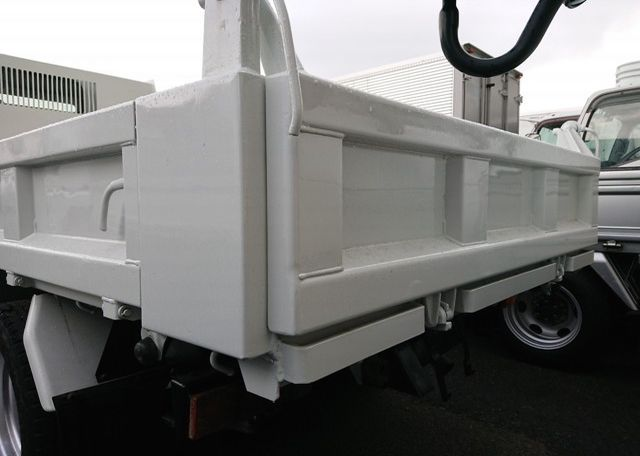 2006 Mitsubishi Canter Dump Truck. Close up of rear tail gate in perfect condition