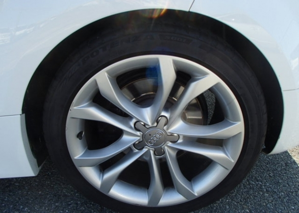 Clean Used Audi bought in Japan. Wheels clean and rubber good. Car well maintained by original