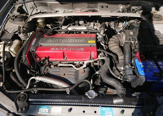 Used Lancer Evo for import from Japan via Japan Car Direct. 4G63 engine in good condition