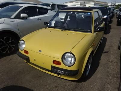 Pure JDM kei car small and sweet. Cute japanese car only sold domestically. Bright yellow attract attention importing your own small car from local Japan