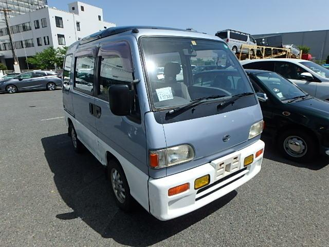 cabover kei truck and Subaru Dias Wagon specifically for the Japanese market. Small cute quirky go anywhere family van work trade building materials carrier storage areas large and versatile