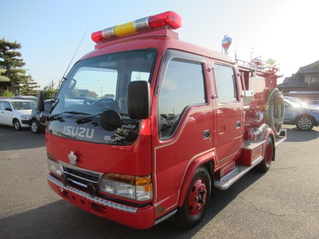 Erufu) medium duty truck produced since 1959. Indonesia, Philippines and several other countries converted into microbuses by local body makers. Firetruck low mileage service vehicle waterpump life saver.